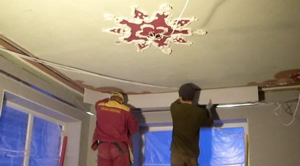Видеоуроки потолок своими руками