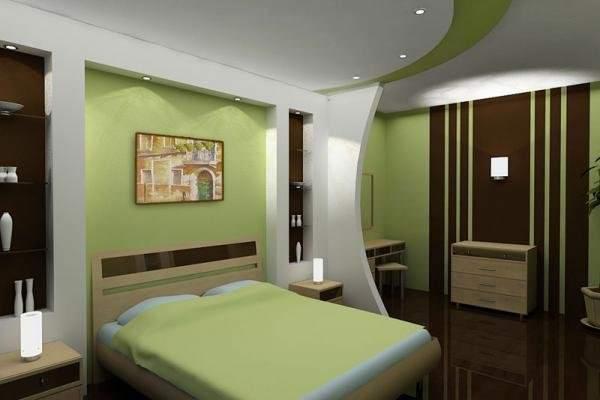 Потолок из гипсокартона в спальне своими руками
