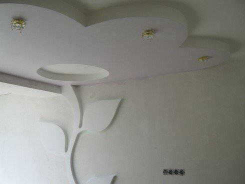 Потолки из гипсокартона в спальне фото своими руками