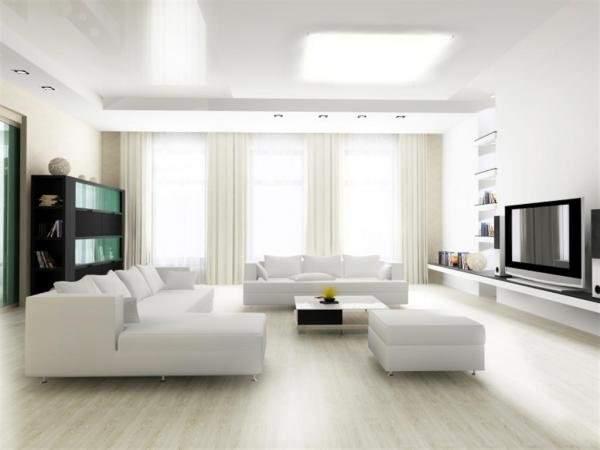 Светлый ламинат и светлая мебель