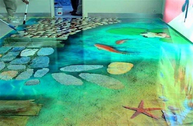 Цветы в Рисунки на мебСамовыравнивающиеся наливные полы