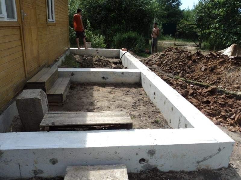 Как пристроить террасу к деревянному дому своими руками фото