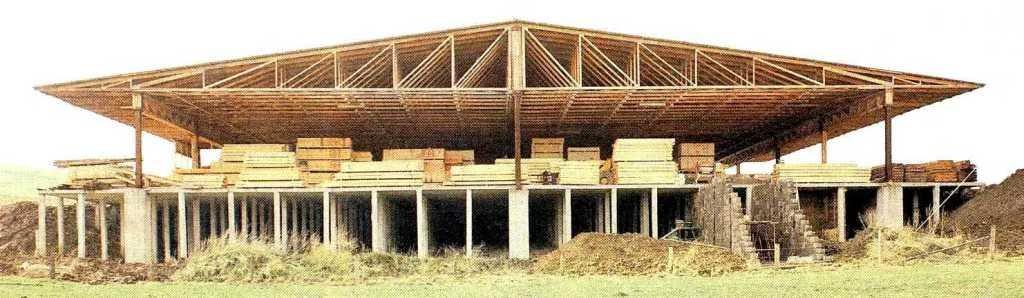Деревянные фермы перекрытия 7м